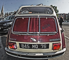 Auffay voitures (IM@GE Communication Photo Video) Tags: voiture car collection hdr fisheye samyang sony ilca77m2 citroen 2cv dolly