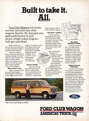 1985 Ford Club Wagon Van Page 1 USA Original Magazine Advertisement (Darren Marlow) Tags: