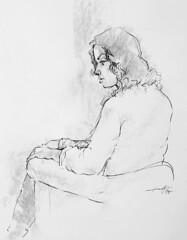 (Gasheh) Tags: art painting drawing sketch portrait figure girl woman line pen pastel gasheh 2019
