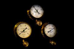 3 Gauges (MMiPhoto) Tags: steam brass engine ryhopeenginemuseum sunderland wear northeast fuji gauge