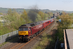 47826 2Z09 @ Kendal 21/04/2019 (North West Rail Scene) Tags: 47 westcoast wcrc class47 windermere oxenholme kendal loco locohauled 2z09 47826 47851 diesel train