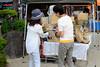 Demonstrating how to make a rattan basket: Chion-ji Tezukuri-ichi (handmade goods market), Kyoto (longzijun) Tags: kyoto travel chionji tezukuriichi market handicrafts