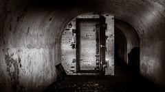 the bunker (Fort Hancock Sandy Hook NJ) (Steve Stanger) Tags: olympus olympusomdem10markii microfourthirds m43 micro43 getolympus olympuscamera spring sandyhook forthancock lumixg25mmf17 lumix prime bunker blackandwhite bw bnw blackwhite monmouthcounty nj mono monochrome rusty crusty rustyandcrusty ruin ruins abandoned decay cinematic