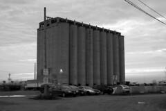 212 -1vibbwfwlcon (citatus) Tags: silo parking lot 333 lakeshore avenue east toronto canada spring morning 2019 pentax k3 ii bw