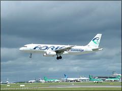 S5-AAB Airbus A320-231 Adria Airways (elevationair ✈) Tags: dub eidw dublin airport dublinairport ireland avgheek aviation airplane plane aircraft adria adriaairways airbus a320 airbusa320231 s5aab