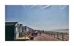 Sunny days ! (CJS*64) Tags: lytham stannes lancashire seaside northwest panasonic panasoniclx100 lx100 cjs64 craigsunter cjs sunshine sunny sunnydays colour colours shoreline beachhuts huts people