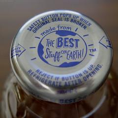 The Best Stuff on Earth (Coyoty) Tags: snapple peach tea bottle cap bottlecap drink metal lid blue brown macro bokeh silvery silver square macromondays squareformat food beverage glass peachtea