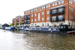 20190415 0055 Canal Boats and Appartments Diglis Basin Birmingham Canal Worcester (rodtuk) Tags: 4star boat building buildings england flipublic flickr house midlands phototype places rating rodt roderict roderickt uk vehboat vehicle wip worcester worcestershire