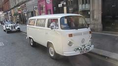 Volkswagen Bus Type 2 Wedding Vehicle Spotted In Glasgow Scotland - 2 Of 3 (Kelvin64) Tags: volkswagen bus type 2 wedding vehicle spotted in glasgow scotland