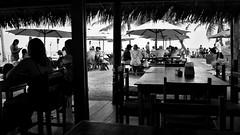 Bar view (Helvio Silva) Tags: bar restaurant praia beach table litoral nordeste paraiba sombrinhas umbrella verão braziliansummer shadows sombras helviosilva bw restaurante drinks fun hollidays
