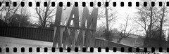 I AM A MAN (No Stone Unturned Photography) Tags: martinlutherking jr black white monochrome kodak folding expired ilford delta 100 35mm film sprocket holes jiffy camera art deco 1933 six16 616 panoramic iamaman memphis tennessee plaza monument