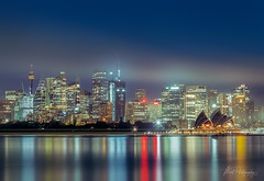 Sydney Blue Hour (monkcushla1) Tags: australia sydney cityscape high rise architecture city water harbour reflections opera house sunrise blue