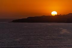 Sunset View from Ocean Trails View at Trump National Golf Club Los Angeles in Rancho Palos Verdes, CA (SCSQ4) Tags: beach california cliff coastline goldenhour hikingtrail losangeles ocean oceantrailsreserve ranchopalosverdes silhouette sunset trumpnationalgolfclub views