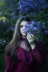 lilac (Melodyphoto3) Tags: photo portrait photography people vintage girl bokeh spring canon art artphoto fineart