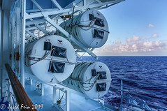 Satety at Sea (SewerDoc (4 million views)) Tags: cruiseship oasisoftheseas royalcaribbean ship liferafts cansters liferaftcanisters inflatableliferafts boat safety