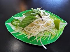 Vietnam (knightbefore_99) Tags: vietnam vietnamese vancouver restaurant soup pho noodles asian basil sprouts lime hot pepper plate jalapeno verde green
