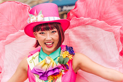 Magic Girl (EatThisLight) Tags: pink color colorful smile pretty magic magician tophat hat cute costume performer dancer tokyo japan disneysea tokyodisneysea disney sea show easter tiptopeaster spring