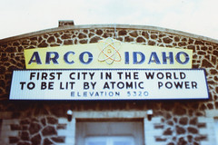 Fujica ST Arco Idaho 3 (▓▓▒▒░░) Tags: fuji fujica slr 1970s japan xpro kodak elite chrome slide cross process vintage retro classic antique 35mm analog film camera design style idaho roadtrip roadside america west history atomic nuclear power meltdown nasa bomber abandoned rusty weathered coldwar military industrial complex