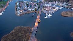 The Glimmer Glass Bridge between Manasquan and Brielle, captured by DJI Mavic 2 Pro. (apardavila) Tags: atlanticocean djimavic2pro glimmerglassbridge jerseyshore manasquan aerial drone dronephoto dronephotography quadcopter sky