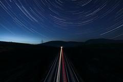 Speed of Light (Christoph Wenzel) Tags: zug ice deutschland bahn sonyalpha6000 startrails thüringen manuell sterne samyang12mmf20 nacht berge natur astro schalkau