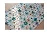 Work in progress (balu51) Tags: patchwork sewing quilting quilt scrapquilt wip scrappyflowerquilt hexagons scraps linen cream teal green blue black grey april 2019 copyrightbybalu51