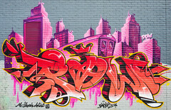 R.I.P. Pow by Mr Skosh. (Suggsy69) Tags: nikon d7200 graffiti art pow mrskosh shoreditch oldskool train wall london eastlondon memorial