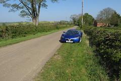 Nice day for a drive (jiffyhelper) Tags: canon powershot sx280 vx220 blue car country lane noborough northamptonshire