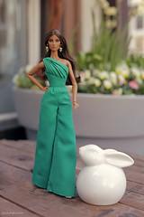 Happy Belated Easter to all my flickr-friends! 🌼 🌺🌹 (lichtspuren) Tags: happyeaster bunny integritytoys fashionroyalty elysejolie seduisante lichtspuren