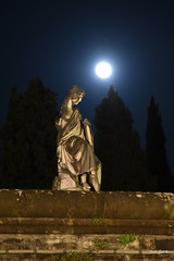 San Miniato al Monte (carlogalletti) Tags: firenze florence italia italy san miniato chiese cattedrali monumenti notte toscana tuscany luna moon