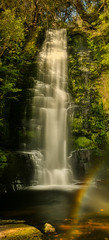Upper Mclean falls with rainbow (Yani Dubin) Tags: waterfall rainbow yellow water multipleexposures summer catlins widelens tamronsp2470mmf28divcusdg2 white d850 black color circularpolarizer longexposure colour nature lumenzia landscape clutha panorama moss green lightroom aurorahdr river southotago orange ndfilter mcleanfalls hdr photoshop newzealand luminar