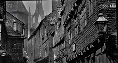 When Times Were Hard. (ManOfYorkshire) Tags: overcrowding poor health newcastle northeast england gb uk bw old olden times hard rough buildings disease sanitation gaslight brick dogleapstairs stnicholascathedral blackgate