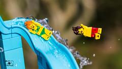 Sliding (The Aphol) Tags: afol lego legography legophotography minifigs minifigures toy toyphotographers toyphotography water fun park aquapark sliding minfigures