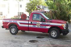 Miami Beach Fire Rescue (Martijn Groen) Tags: miamibeach miami florida unitedstates usa november 2017 firedepartment firetruck pickup fireshop ford fordf250 f250