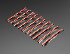 """Break-away 0.1"""" 36-pin strip male header - Red - 10 pack (adafruit) Tags: 4151 pins 36pinheaders maleheaders headers male colorheaders adafruit electronics addons accessories breakawaymaleheaders breakawayheaders diy diyelectronics diyprojects"""