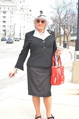 It's Amazing! (Laurette Victoria) Tags: milwaukee downtown laurette woman suit lady purse hat easter sunglasses