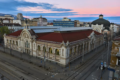 Sofia's Central Market Hall and Synagogue (Naval S) Tags: so10025 sofia bulgaria sunset synagogue cityview dusk