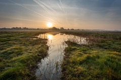 Morning On The Marsh (Rob Pitt) Tags: neston marshes wirral sunrise sony a7rii water
