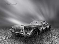 mr. president RS-2042 (P.E.T. shots) Tags: old car automobile rust rusty forgotten ruins neglected sky long exposure 1966 lincolncontinental