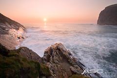 Crackington Haven (Anna Curnow) Tags: sunset sea coastline coast canon cornwall ocean sun uk landscape seascape