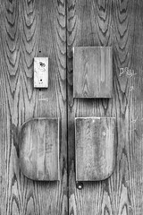 gone missing (fallsroad) Tags: sigma135art nikonsigma tulsaoklahoma city urban downtown slice fragment scene blackandwhite bw monochrome decay abandoned door wood weathered