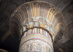 Colorful column (Tim Brown's Pictures) Tags: egypt rivertours nileriver travel tours ancientegypt ancientworld ancienttemplestempleofesna uppernile color