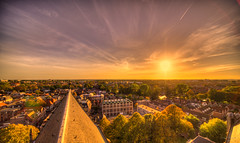 Sundown over Alkmaar. (Alex-de-Haas) Tags: oogvoornoordholland 11mm adobe adobelightroom alkmaar aurorahdr aurorahdr2019 blackstone d850 dutch europa europe european hdr holland irix irix11mm irixblackstone lightroom nederland nederlands netherlands nikon nikond850 noordholland skylum westfrisia westfriesland westfries architecture architectuur building buildings center centrum cirrus city cityscape gebouw gebouwen innercity sky skyscape stad straat street summer sunset town urban zomer zonsondergang