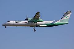 LN-RDZ // Winderoe // Dash 8 Q400 // Stansted (SimonNicholls27) Tags: stansted stn egss aircraft aviation plane aeroplane winderoe dash 8 q400