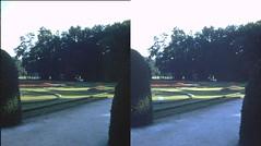 Batch E 0140 (dizzygum) Tags: vintage stereo 3d slide image france 1960 garden chenonceaux