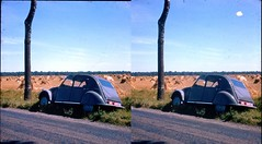 Batch E 0114 (dizzygum) Tags: vintage stereo 3d slide image france 1960 french countryside citreon