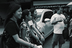 Laughter (Beegee49) Tags: street people laughing filipina blackandwhite monachrome sony luminar happy planet silay city philippines asia