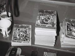 Yu-Gi-Oh! (2) (Matthew Paul Argall) Tags: hanimex110if fixedfocus 110 110film subminiaturefilm lomographyfilm 100isofilm blackandwhite blackandwhitefilm manga comicbooks yugioh