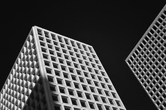 """Greenway Plaza """"Boxes"""" (infrared) (dr_marvel) Tags: infrared ir houston tx texas greenwayplaza buildings architecture blackandwhite geometry squares greenway"""