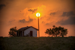 Telegram Pole Sunset (Phil Ostroff) Tags: sunset dusk texas telegram pole abandoned