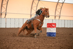 Jackie (wysharp) Tags: barrelracing cowgirl horse